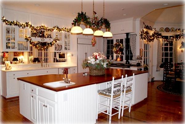 D coration noel cuisine - Decoration buche de noel maison ...