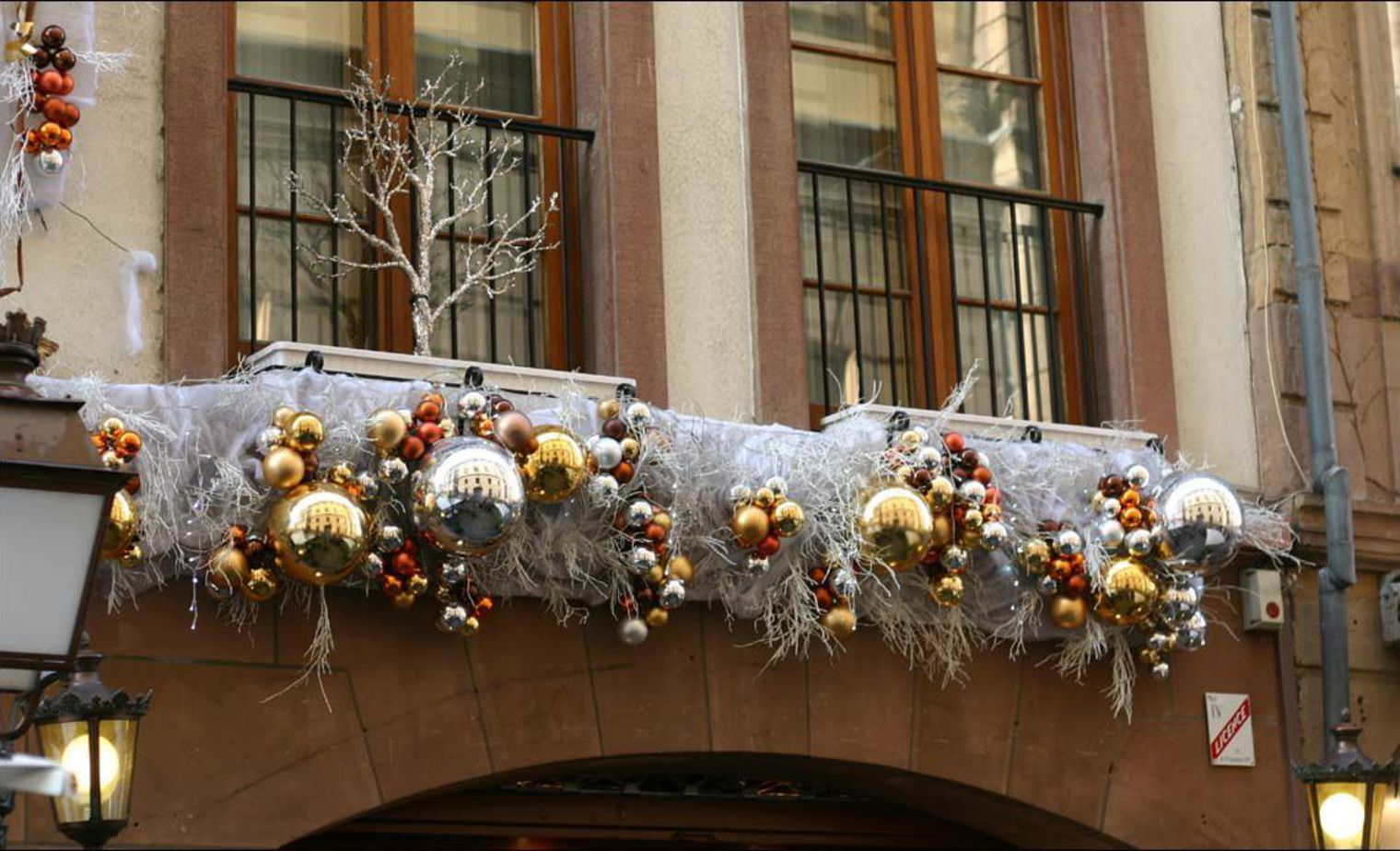 D coration noel exterieur balcon exemples d 39 am nagements - Image decoration de noel ...