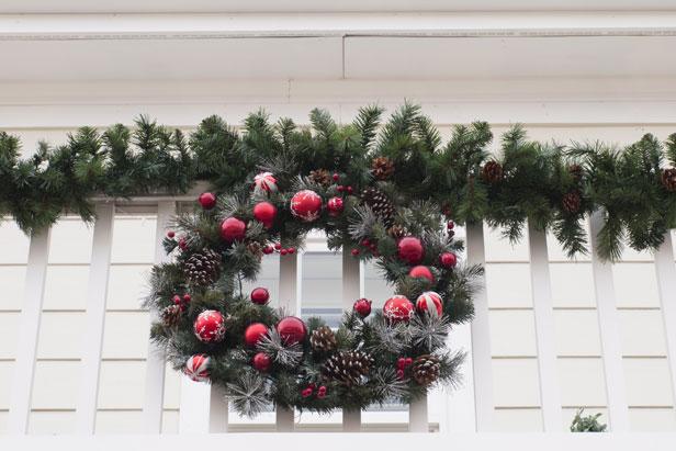 D coration noel exterieur balcon exemples d 39 am nagements - Decoration exterieur de noel ...