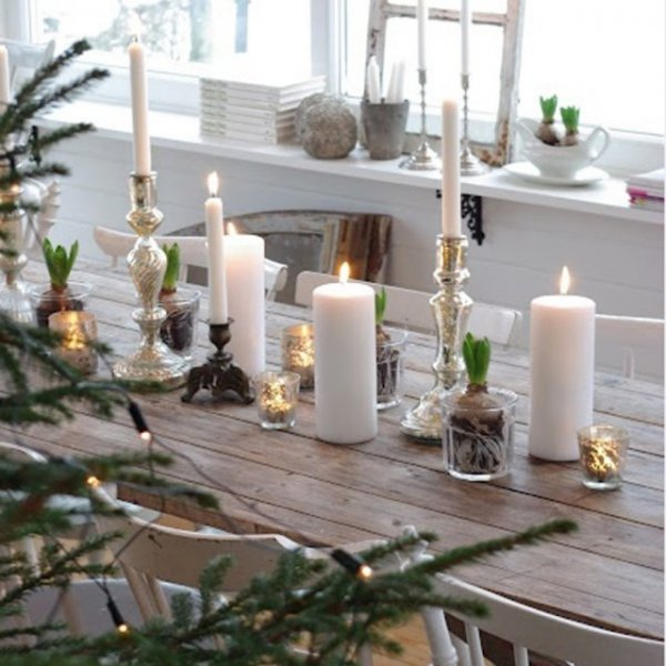 D coration noel nature maison exemples d 39 am nagements - Table de fete decoration noel ...