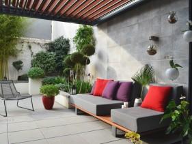 D coration patio terrasse exemples d 39 am nagements - Decoration terrasse avec bambou ...