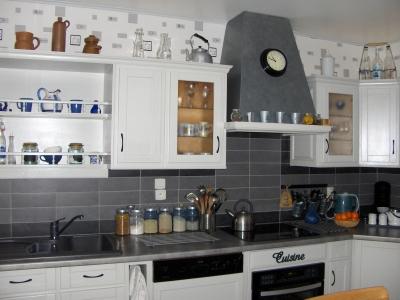 D coration pour cuisine grise for Idee deco pour cuisine blanche