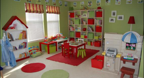 Décoration pour une salle de jeux - Exemples d\'aménagements