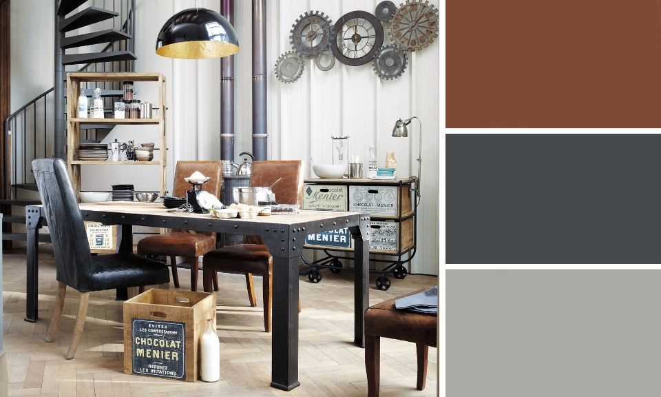 d coration salle a manger marron et vert exemples d. Black Bedroom Furniture Sets. Home Design Ideas