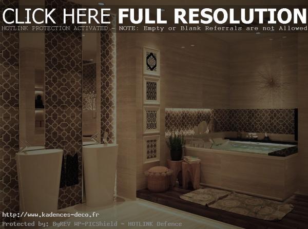 Décoration salle de bain marocaine - Exemples d\'aménagements