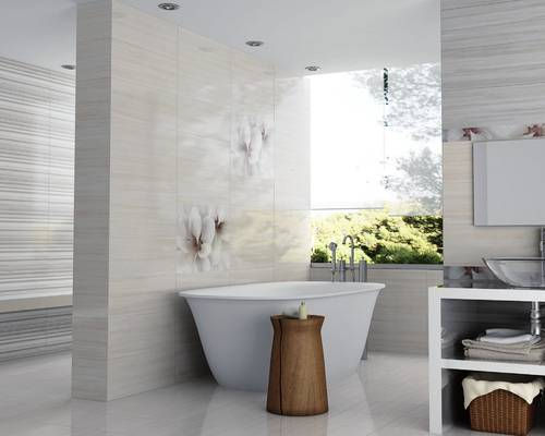 D coration salle de bain mur exemples d 39 am nagements for Decoration murale salle de bain