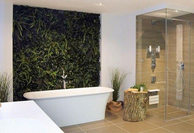 Décoration salle de bain mur  Exemples d'aménagements