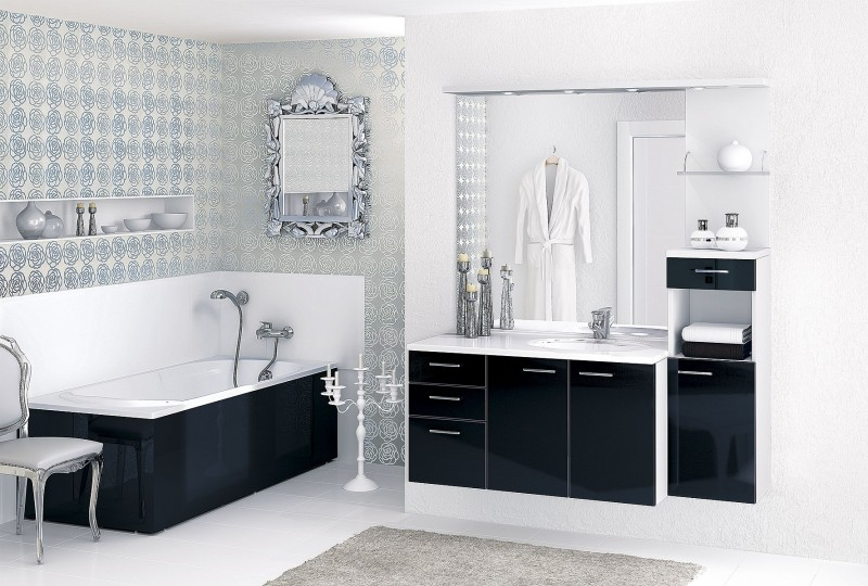 decoration salle de bain noir et blanc en tunisie. Black Bedroom Furniture Sets. Home Design Ideas