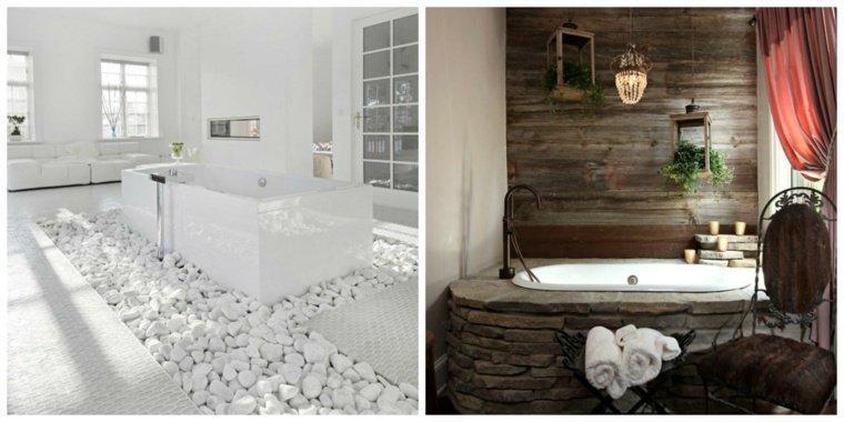 D coration salle de bain pierre exemples d 39 am nagements - Exemple deco salle de bain ...