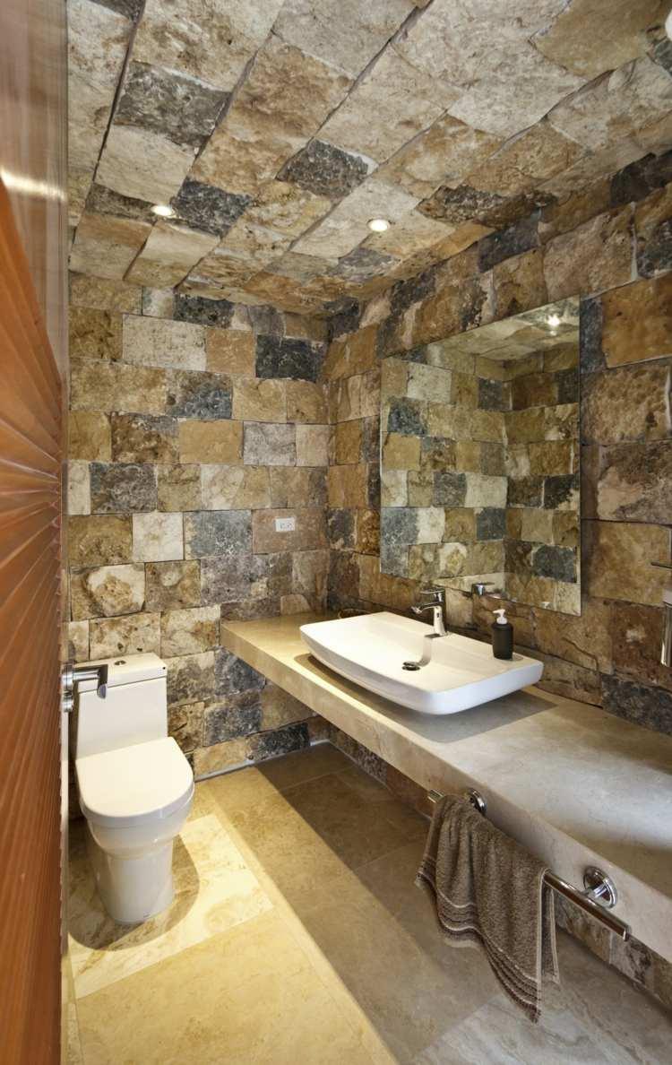 Décoration salle de bain pierre - Exemples d\'aménagements