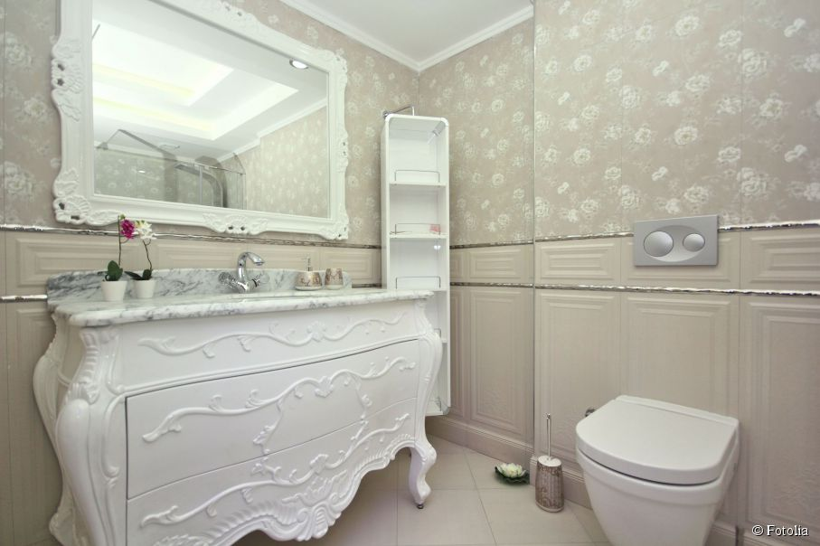 d coration salle de bain shabby chic exemples d 39 am nagements. Black Bedroom Furniture Sets. Home Design Ideas