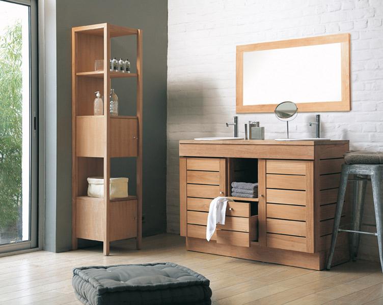 d coration salle de bain teck exemples d 39 am nagements. Black Bedroom Furniture Sets. Home Design Ideas