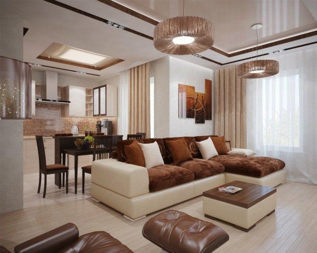 d233coration salon blanc et marron exemples dam233nagements