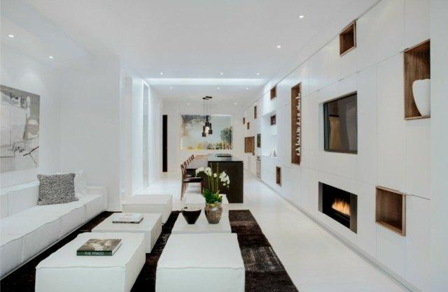 Davaus.net = Deco Salon Blanc Rouge Marron ~ Avec des idées ...