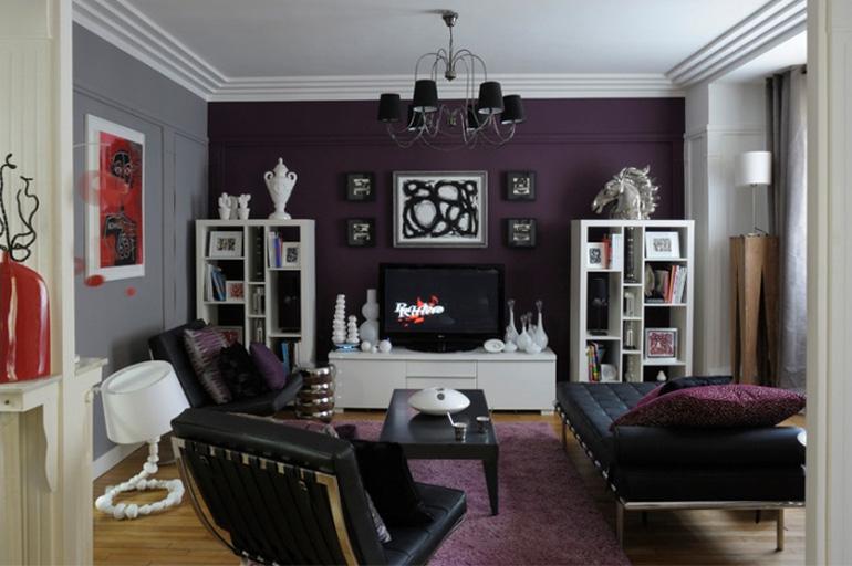 Décoration salon double - Exemples d\'aménagements