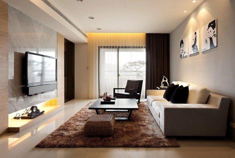Décoration salon etroit - Exemples d\'aménagements