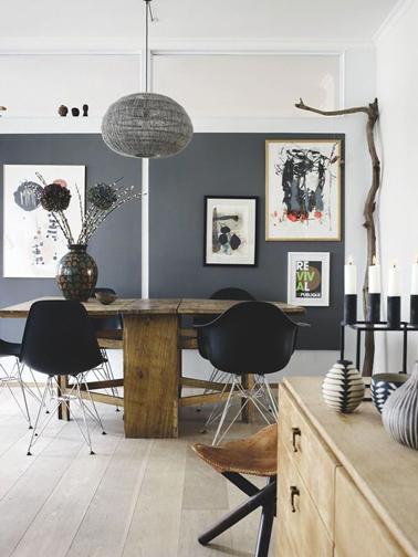 Cuisine Rouge Bordeaux : Décoration salon gris et bois  Exemples daménagements