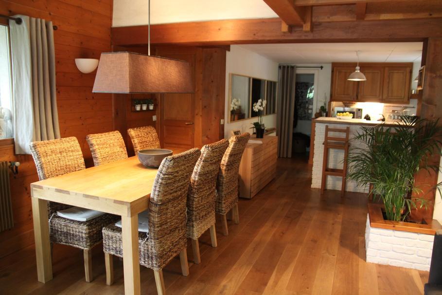 amnagement dcoration salon parquet bois - Salle A Manger Parquet Bois