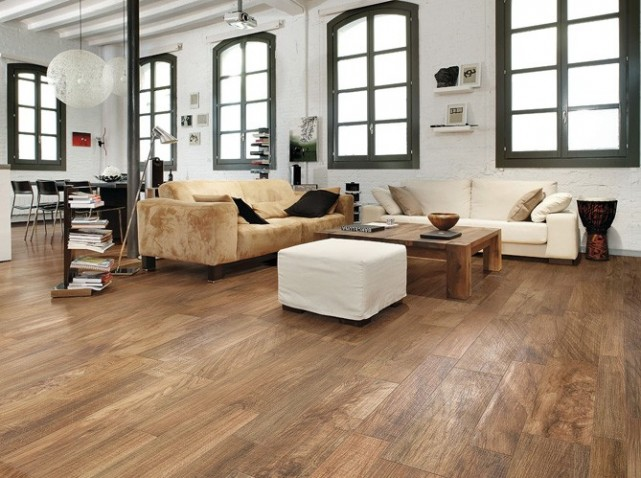 Décoration salon parquet bois - Exemples d'aménagements