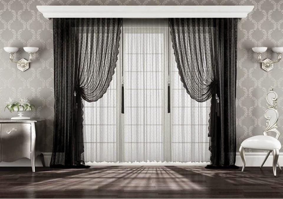 D coration salon rideaux exemples d 39 am nagements - Rideaux decoration interieure salon ...