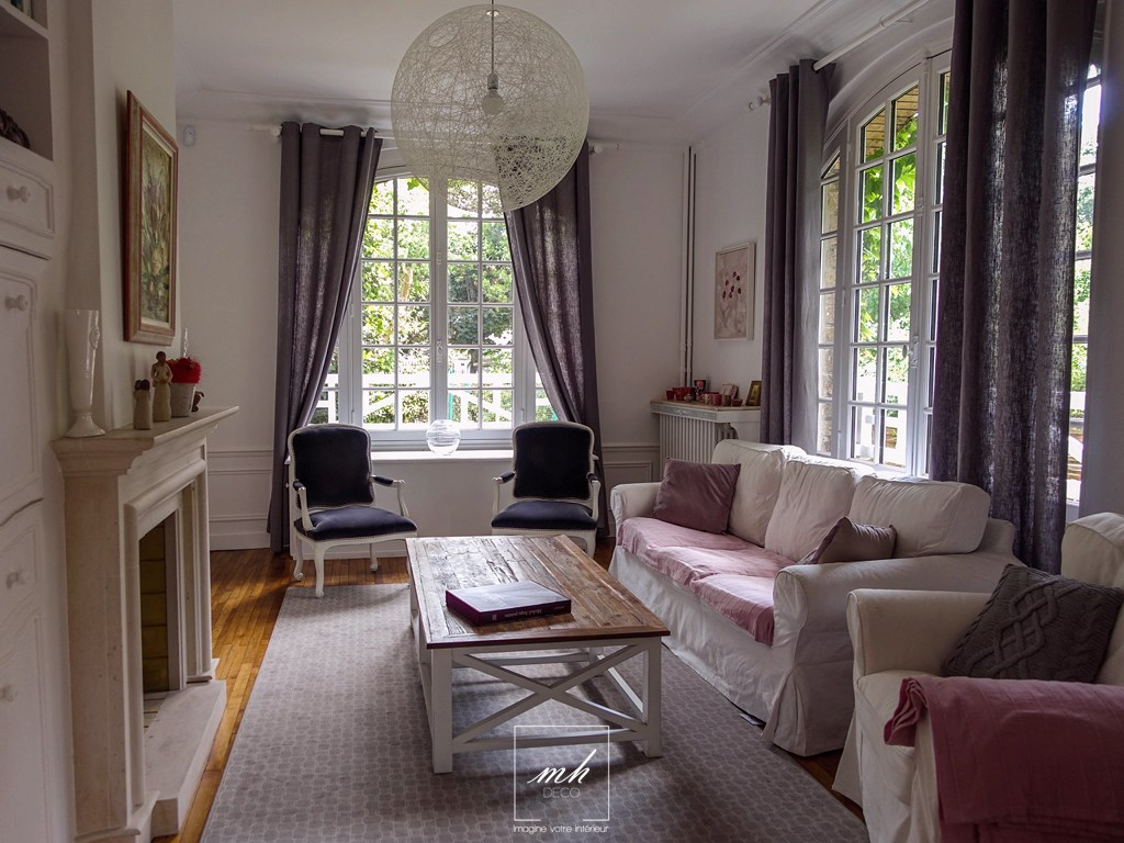 D co salon rustique chic for Meuble maison de famille