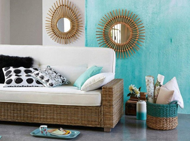 Awesome Deco Salon Bleu Turquoise Images - lalawgroup.us ...