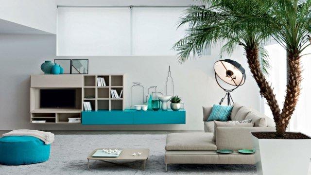 D coration salon turquoise exemples d 39 am nagements for Deco turquoise salon