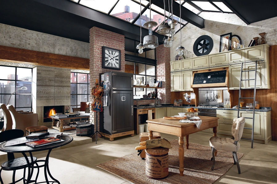 D co style loft industriel for Cuisine industrielle loft