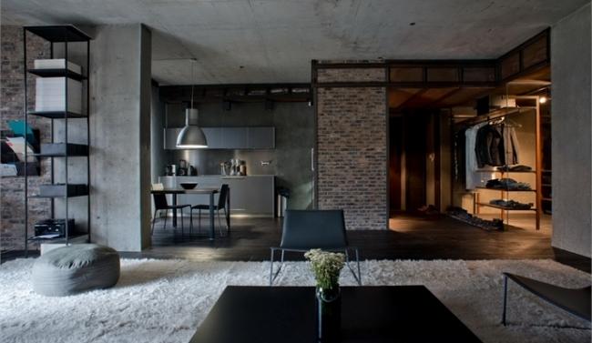 chambre loft industriel dcoration style loft industriel exemples d amnagements - Chambre Loft Industriel