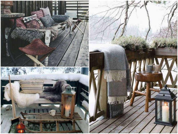 Décoration terrasse en hiver - Exemples d\'aménagements
