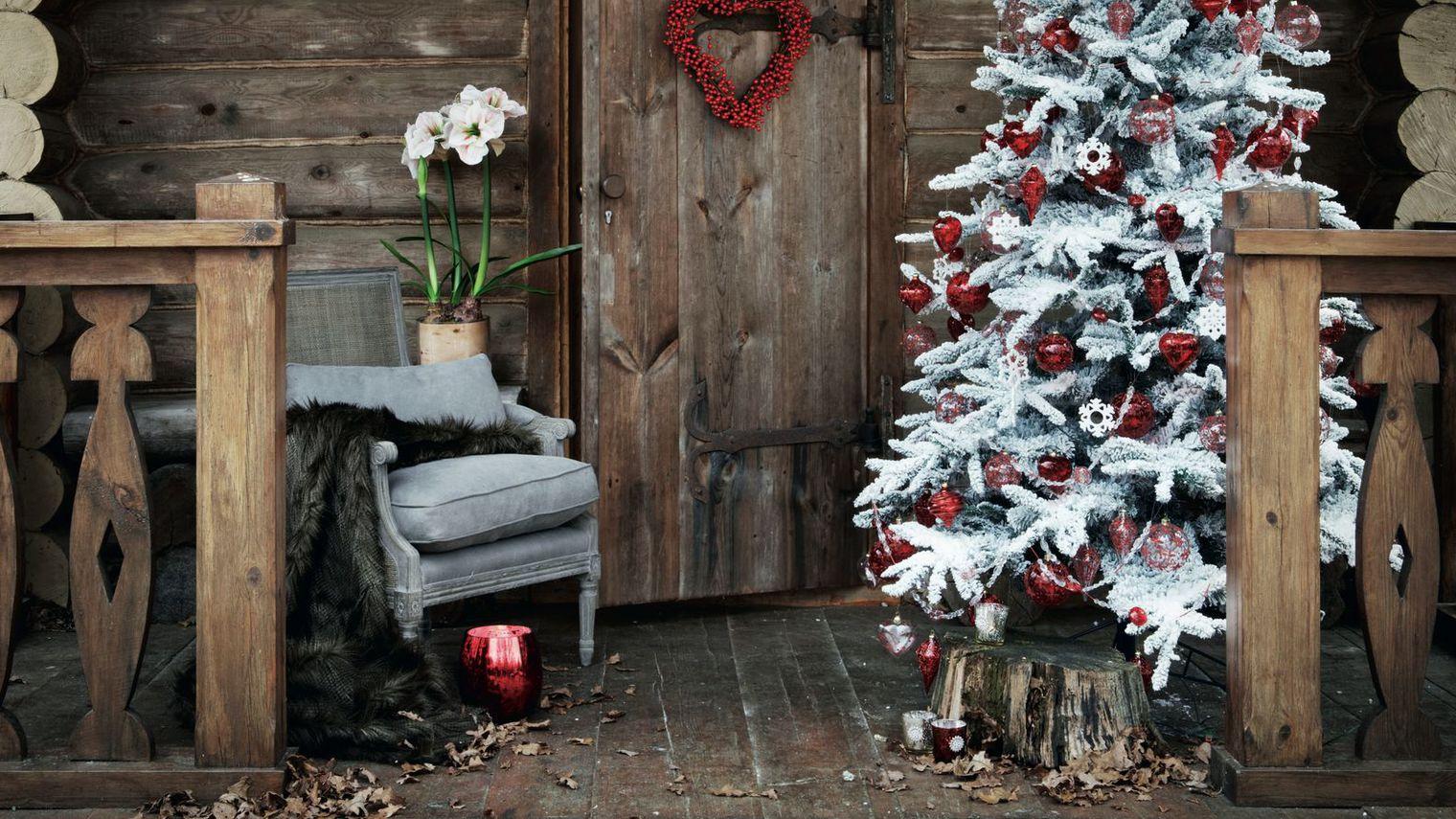 d coration terrasse pour noel exemples d 39 am nagements. Black Bedroom Furniture Sets. Home Design Ideas