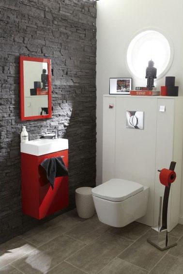 Décoration wc carrelage - Exemples d\'aménagements