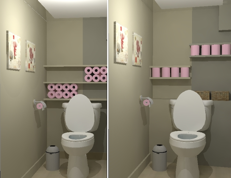 D co pour wc for Idee decoration toilettes